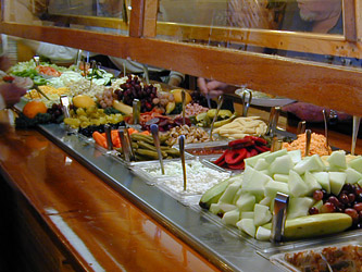 Salad bar at Captain Joe's Seafood, Brunswick, georgia