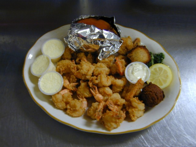 Fantail Shrimp With Sweet Potato Salad Bar Included